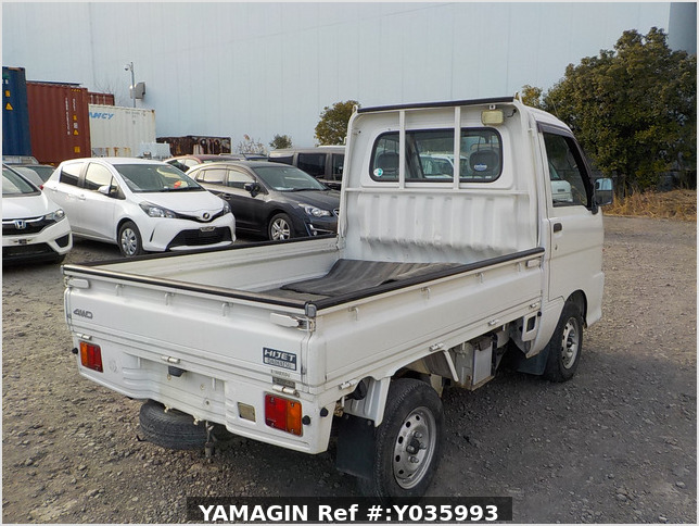 It is a picture of the white daihatsu hijet truck in 2003,Sub Photo 2 Stock No.Y035993