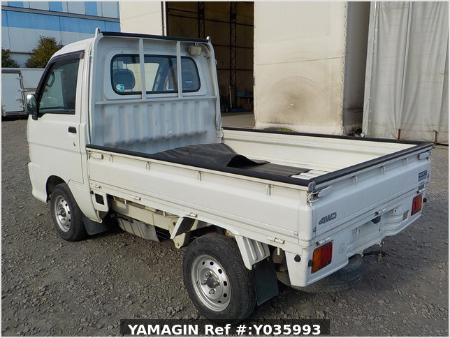 It is a picture of the white daihatsu hijet truck in 2003,Sub Photo 3 Stock No.Y035993