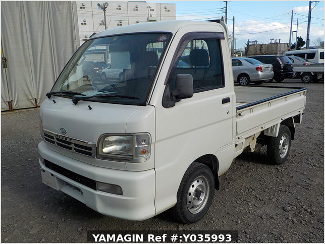 It is a picture of the white daihatsu hijet truck in 2003,Sub Photo 1 Stock No.Y035993