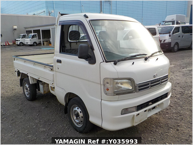 It is a picture of the white daihatsu hijet truck in 2003,Sub Photo 0 Stock No.Y035993