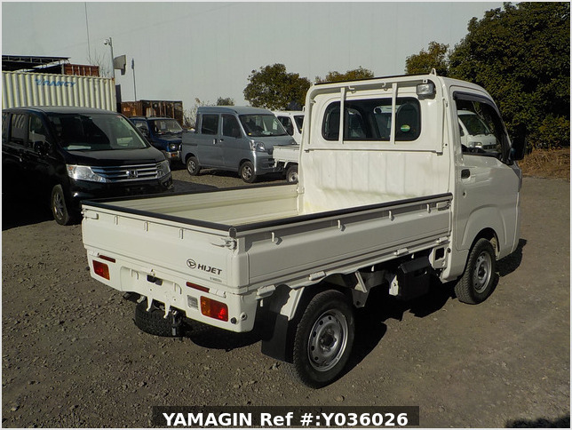 It is a picture of the white daihatsu hijet truck in 2015,Sub Photo 2 Stock No.Y036026