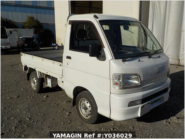 It is a picture of the white daihatsu hijet truck in 2003,Sub Photo 0 Stock No.Y036029