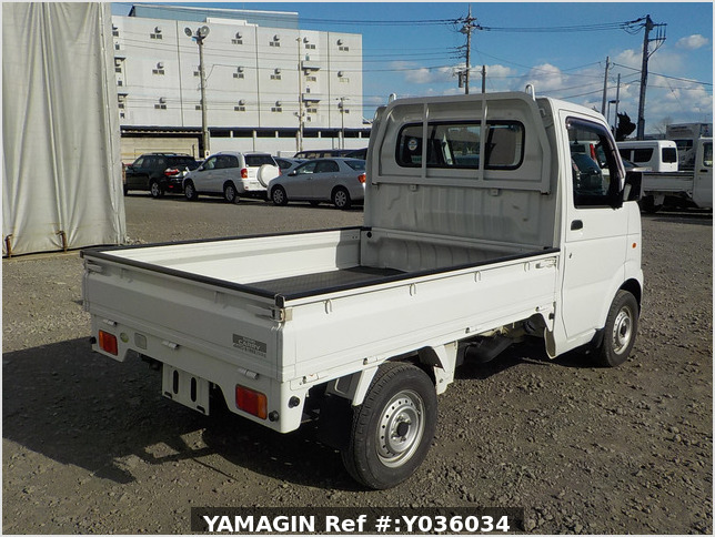 It is a picture of the white suzuki carry truck in 2006,Sub Photo 2 Stock No.Y036034