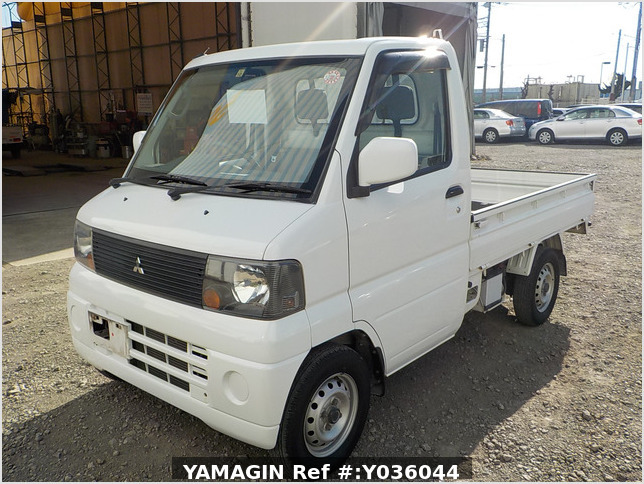 It is a picture of the white mitsubishi minicab truck in 2005,Sub Photo 1 Stock No.Y036044