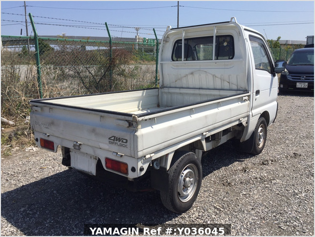 It is a picture of the white suzuki carry truck in 1993,Sub Photo 2 Stock No.Y036045