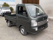 It is a picture of the khaki suzuki carry truck in 2020,First Photo Stock No.Y036048