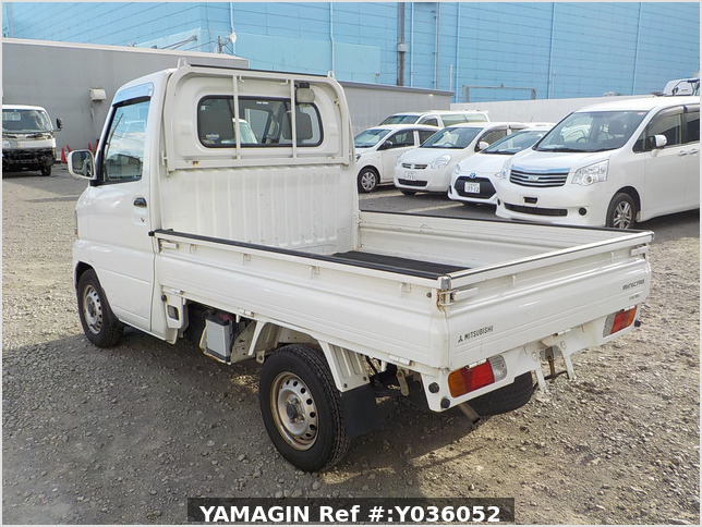 It is a picture of the white mitsubishi minicab truck in 2004,Sub Photo 3 Stock No.Y036052