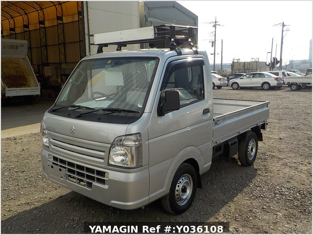 It is a picture of the silver suzuki carry truck in 2020,Sub Photo 1 Stock No.Y036108