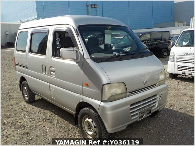 It is a picture of the silver suzuki every passenger van in 2003,Sub Photo 0 Stock No.Y036119