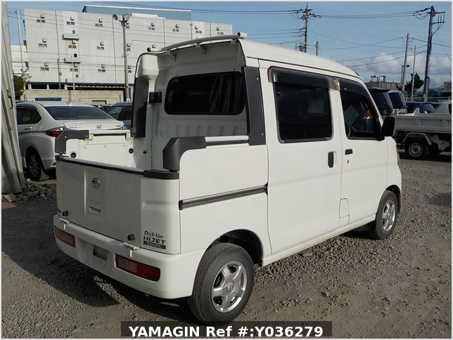 It is a picture of the white daihatsu hijet deck van in 2008,Sub Photo 2 Stock No.Y036279