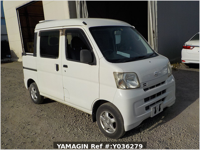 It is a picture of the white daihatsu hijet deck van in 2008,Sub Photo 0 Stock No.Y036279