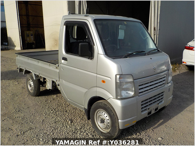 It is a picture of the silver suzuki carry truck in 2013,Sub Photo 0 Stock No.Y036281