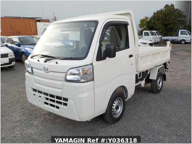 It is a picture of the white daihatsu hijet dump in 2018,Sub Photo 2 Stock No.Y036318