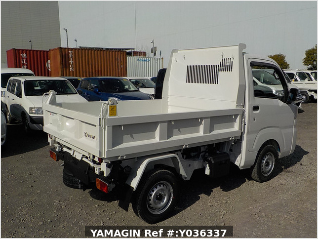 It is a picture of the white daihatsu hijet dump in 2021,Sub Photo 3 Stock No.Y036337