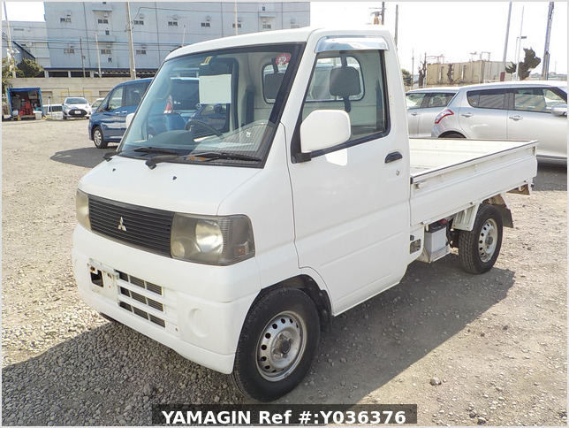 It is a picture of the white mitsubishi minicab truck in 2001,Sub Photo 1 Stock No.Y036376