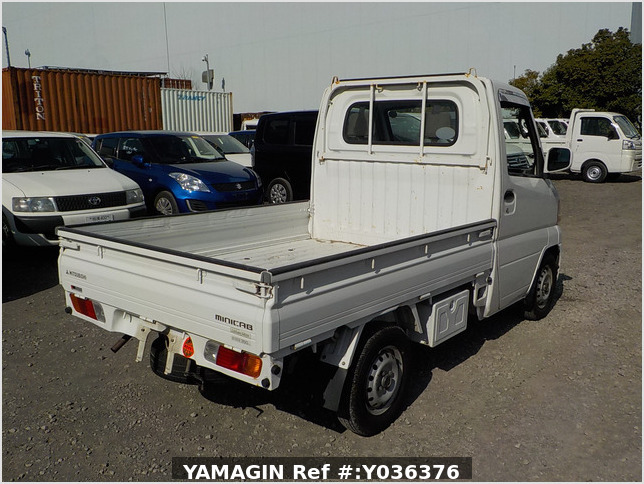 It is a picture of the white mitsubishi minicab truck in 2001,Sub Photo 2 Stock No.Y036376