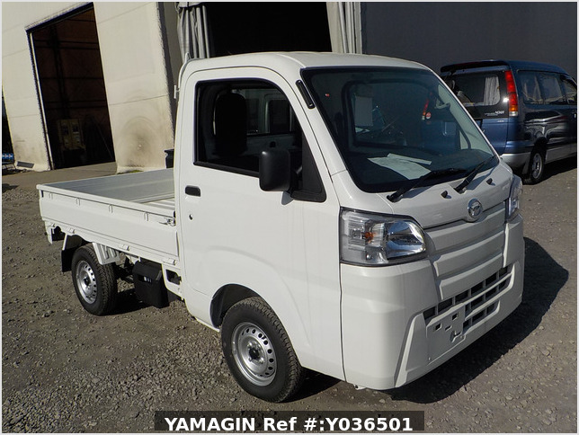 It is a picture of the white daihatsu hijet  truck in 2020,Sub Photo 0 Stock No.Y036501