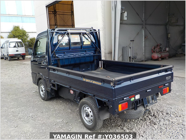 It is a picture of the navy blue suzuki carry  truck in 2014,Sub Photo 3 Stock No.Y036503