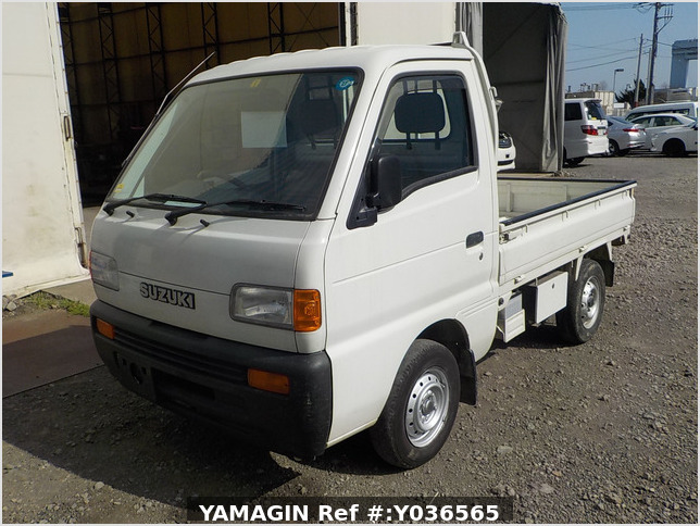 It is a picture of the white suzuki carry truck in 1995,Sub Photo 1 Stock No.Y036565