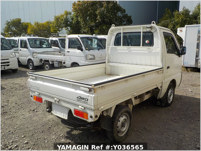It is a picture of the white suzuki carry truck in 1995,Sub Photo 2 Stock No.Y036565