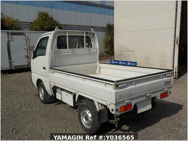 It is a picture of the white suzuki carry truck in 1995,Sub Photo 3 Stock No.Y036565