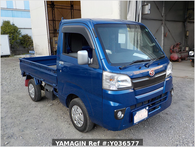 It is a picture of the blue daihatsu hijet  truck in 2014,Sub Photo 0 Stock No.Y036577