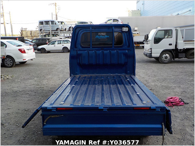 It is a picture of the blue daihatsu hijet  truck in 2014,Sub Photo 4 Stock No.Y036577