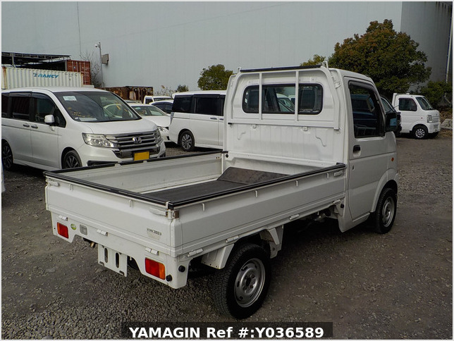 It is a picture of the white suzuki carry truck in 2007,Sub Photo 2 Stock No.Y036589
