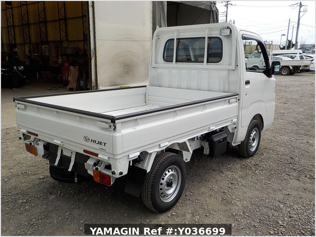 It is a picture of the white daihatsu hijet dump in 2021,Sub Photo 3 Stock No.Y036699