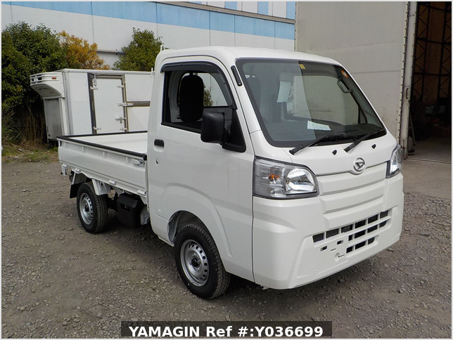 It is a picture of the white daihatsu hijet dump in 2021,Sub Photo 1 Stock No.Y036699