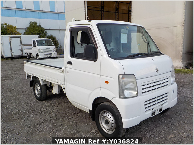 It is a picture of the white suzuki carry truck in 2012,Sub Photo 0 Stock No.Y036824