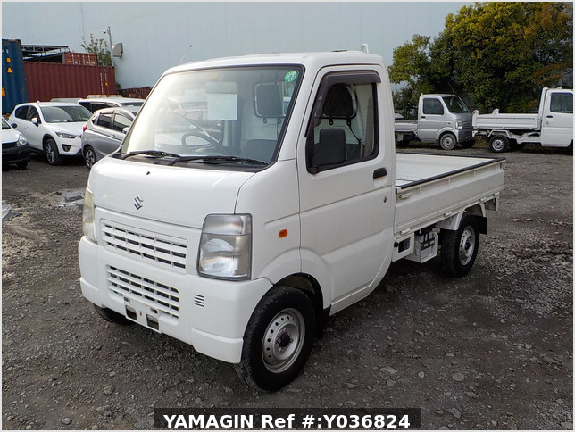 It is a picture of the white suzuki carry truck in 2012,Sub Photo 1 Stock No.Y036824
