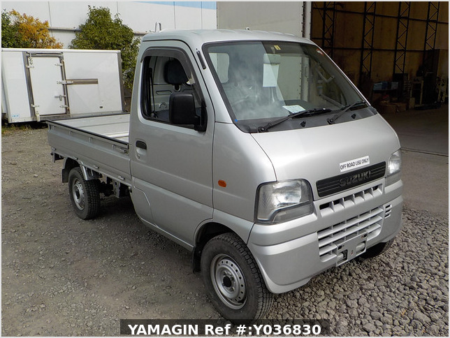 It is a picture of the silver suzuki carry truck in 2001,Sub Photo 0 Stock No.Y036830