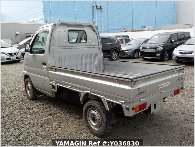 It is a picture of the silver suzuki carry truck in 2001,Sub Photo 3 Stock No.Y036830