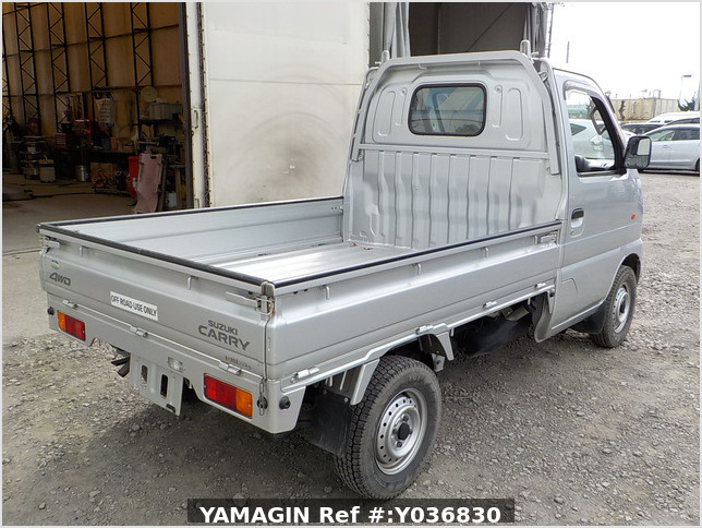 It is a picture of the silver suzuki carry truck in 2001,Sub Photo 2 Stock No.Y036830