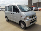 It is a picture of the silver daihatsu hijet  passenger van in 2002,First Photo Stock No.Y036845