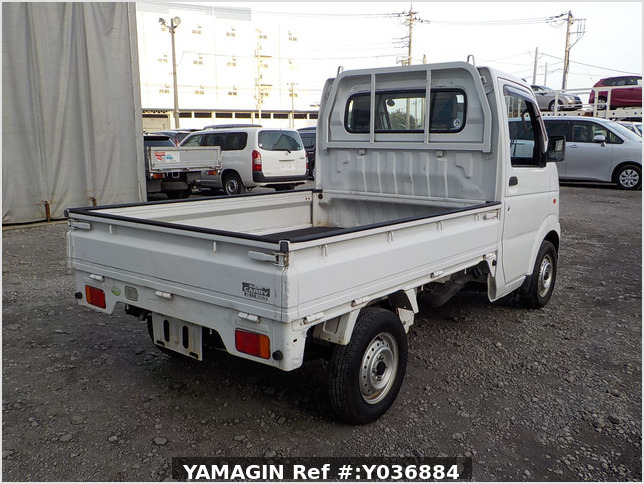 It is a picture of the white suzuki carry truck truck in 2007,Sub Photo 2 Stock No.Y036884