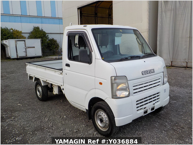 It is a picture of the white suzuki carry truck truck in 2007,Sub Photo 0 Stock No.Y036884