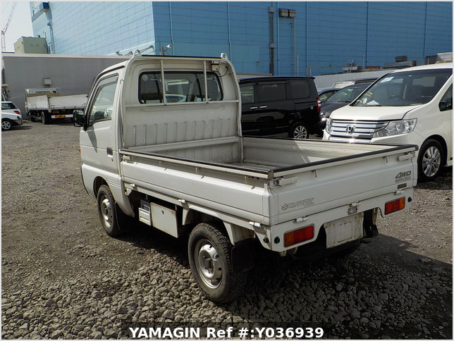 It is a picture of the white suzuki carry truck in 1996,Sub Photo 3 Stock No.Y036939