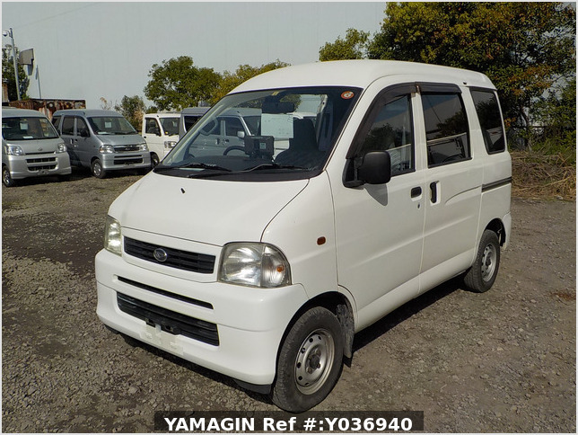 It is a picture of the white daihatsu hijet passenger van in 2004,Sub Photo 1 Stock No.Y036940