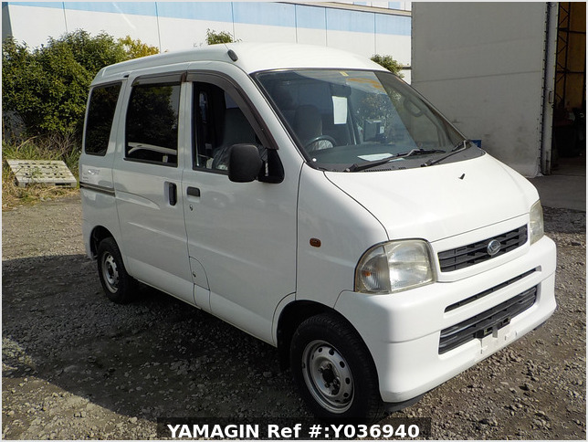 It is a picture of the white daihatsu hijet passenger van in 2004,Sub Photo 0 Stock No.Y036940