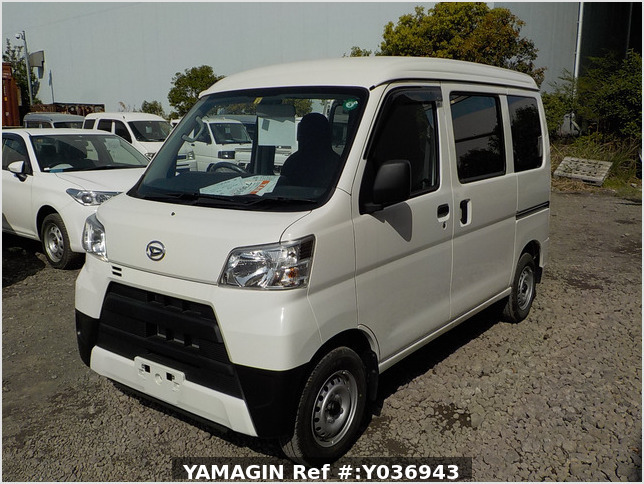 It is a picture of the white daihatsu hijet passenger van in 2020,Sub Photo 1 Stock No.Y036943