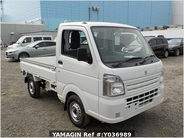 It is a picture of the white suzuki carry truck in 2020,Sub Photo 0 Stock No.Y036989