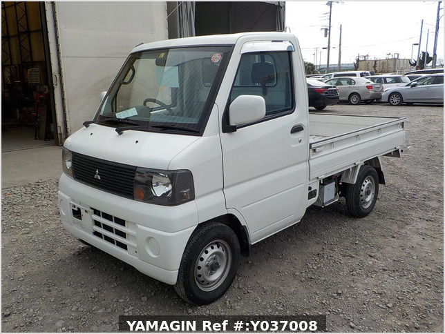 It is a picture of the white mitsubishi minicab truck in 2003,Sub Photo 1 Stock No.Y037008