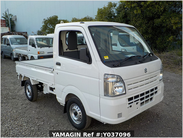 It is a picture of the white suzuki carry truck in 2020,Sub Photo 0 Stock No.Y037096
