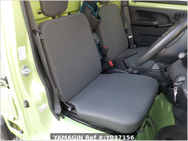 It is a picture of the green daihatsu hijet truck in 2017,Sub Photo 13 Stock No.Y037156