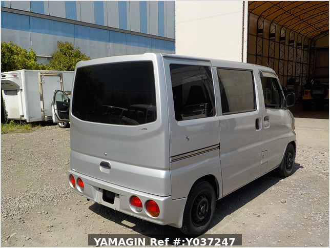 It is a picture of the silver mitsubishi minicab passenger van in 2001,Sub Photo 3 Stock No.Y037247