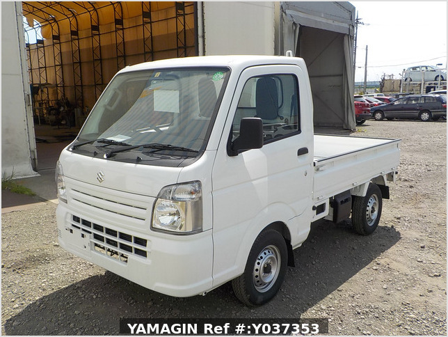 It is a picture of the white suzuki carry truck in 2020,Sub Photo 1 Stock No.Y037353