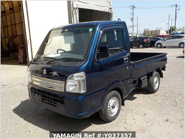 It is a picture of the blue suzuki carry truck in 2019,Sub Photo 1 Stock No.Y037357
