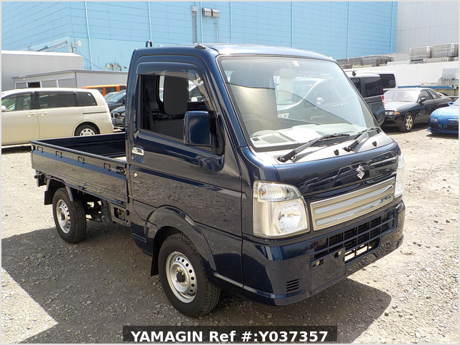 It is a picture of the blue suzuki carry truck in 2019,Sub Photo 0 Stock No.Y037357